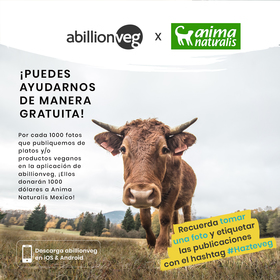 ¡A Billion Veg x AnimaNaturalis… súmate y ayudemos juntos a los animales!