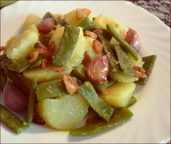 Jud as verdes con patatas platos entrantes - Judias con chorizo y patatas ...