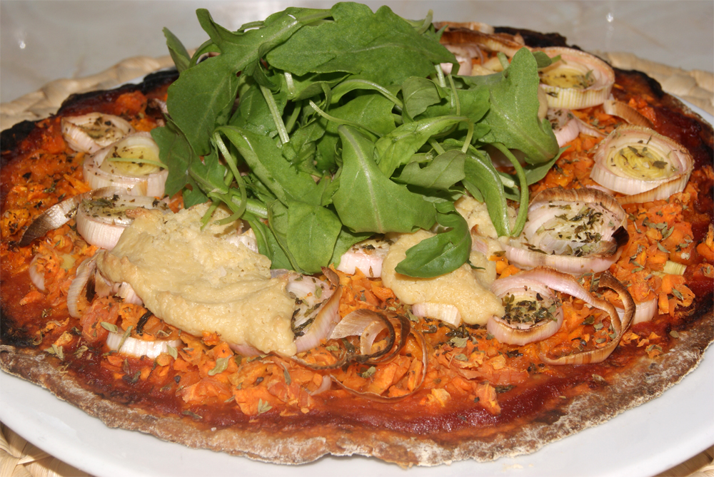 Pizza de zanahorias platos principales pastas pizzas for Platos de pizza