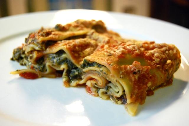 Lasagna vegana de acelga