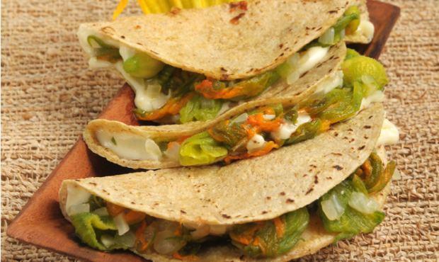 Quesadillas vegetarianas. / Meriendas / Tacos & Burritos / HazteVeg ...