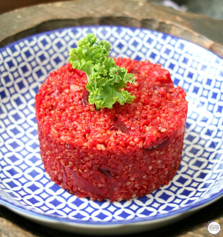 Tartar de quinoa y remolacha platos principales for Cocinar la quinoa