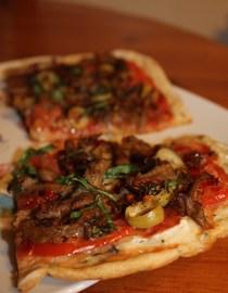 Pizza vegana y sin gluten