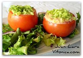 Tomates rellenos (RAW FOOD)