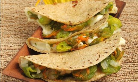 Quesadillas vegetarianas.