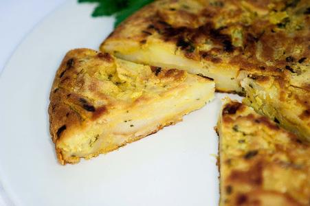 Tortilla de papas vegana