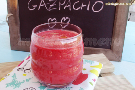 Gazpacho con zanahoria y remolacha