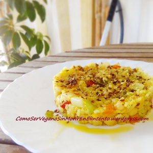 Arroz con garbanzos al curry dulce