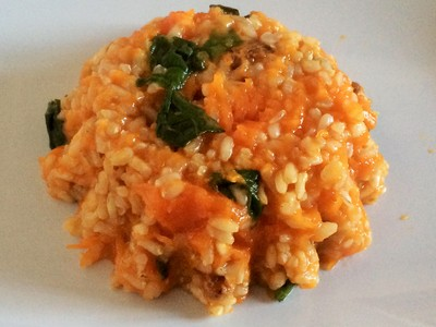 Arroz al curry con verduras