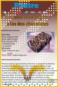 Receta de brownie crudivegano a los dos chocolates.