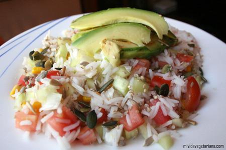 Arroz primavera platos principales arroz otros - Ensalada de arroz light ...
