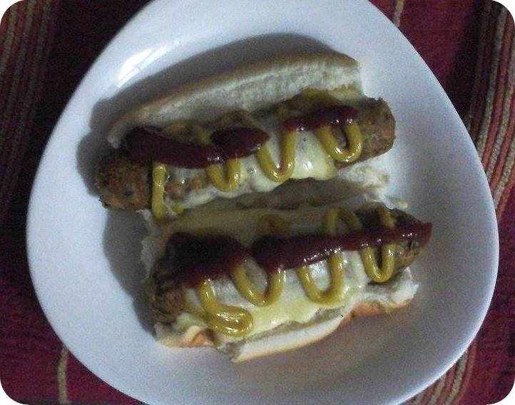 Hot dogs de soja