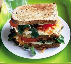 Veg club sandwich