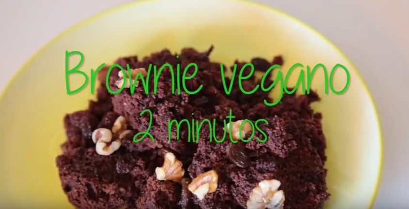 Brownie vegano en 2 minutos