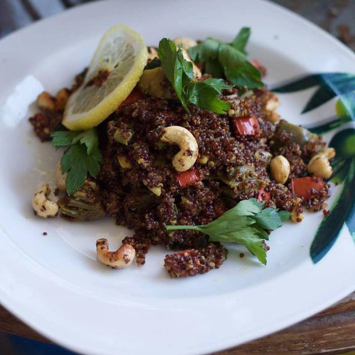 Quinoa roja al curry
