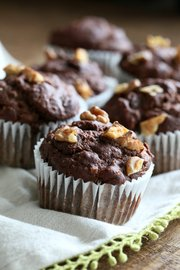 Muffins de banana y chocolate