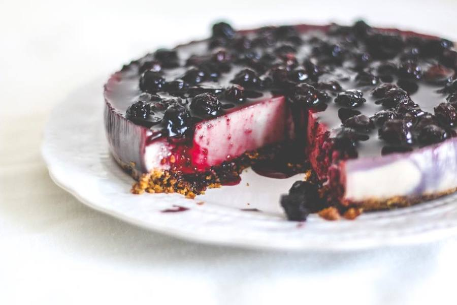 Vegan blueberry cheescake