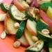 Calabacines con manzanas al limón